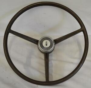 1968 68 Valiant 100 Steering Wheel 3 Spoke Brown Belvedere A body B body