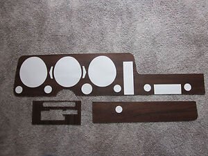 1968 Gto Dash And Console Wood Grain Trim For Models With Automatic Transmission