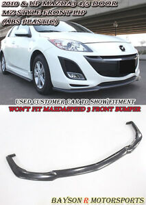 Ms Style Front Lip Urethane Fits 10 11 Mazda 3 4 5dr