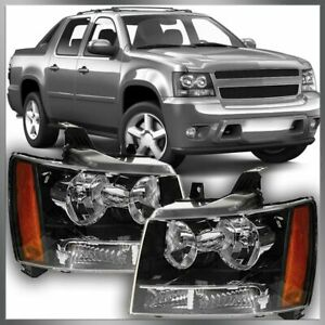 Headlight Pair Set For 07 08 09 10 11 12 13 14 Chevy Suburban Tahoe Avalanche