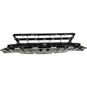 Bumper Grille For 2013 2015 Honda Civic Center Black Plastic