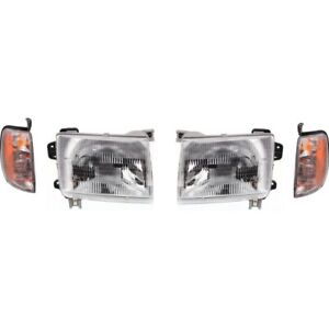 Headlight Kit For 98 2000 Nissan Frontier Left And Right 4pc