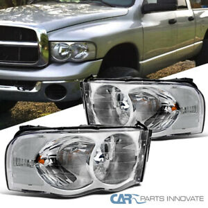 02 05 Dodge Ram 1500 2500 3500 Pickup Clear Headlights Driving Lamps Replacement