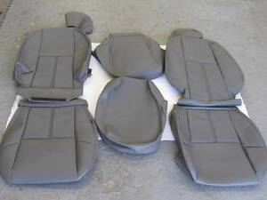 07 08 09 10 11 12 13 Chevy Silverado Wt Truck Front Seat Cover Set Gray Vinyl