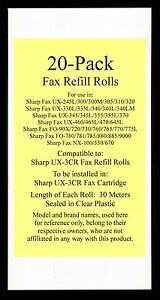20 pack Of Ux 3cr Fax Refill Rolls For Sharp Ux 300 Ux 300m Ux 305 Ux 310 Ux 320