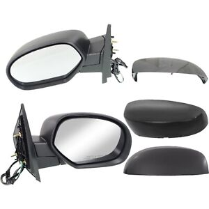Side Mirrors Power Heated Folding Black Left Right Pair Set For Chevy Gmc