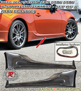 T style Side Skirts abs Fits 12 19 Brz Fr s Toyota 86