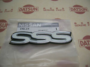 Datsun 510 Bluebird Sss Badge Emblem Usdm Genuine For Nissan 1600 Sedan Wagon