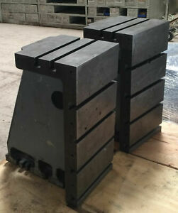 Pair T slotted Angle Block Plate Cast Iron Milling Machine Cincinnati 24x12x12