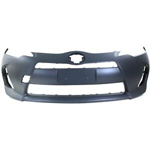 Front Bumper Cover For 2012 2014 Toyota Prius C W Fog Lamp Holes Primed