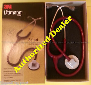 2293 3m Littmann Select Stethoscope Burgundy Nib All Colors Available