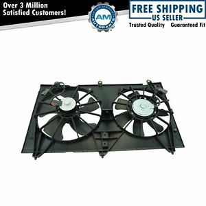 Dual Cooling Fan For 03 07 Honda Accord 2 4l W Nippondenso Radiator