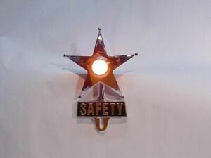 Light Up Amber Dot Vintage Style Safety Star License Plate Topper Hot Rat Rod