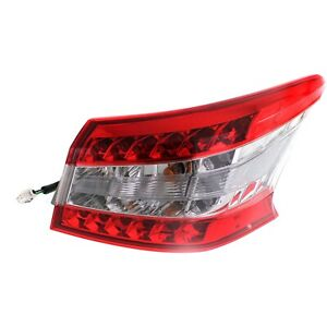 Halogen Tail Light For 2013 15 Nissan Sentra Right Outer Clear red Lens W bulbs