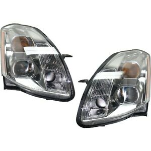 Headlight Set For 2005 2006 Nissan Maxima Left And Right With Bulb 2pc