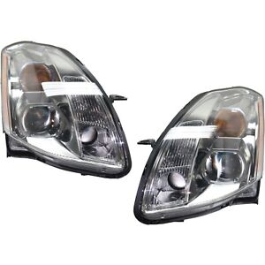 Headlight Set For 2005 2006 Nissan Maxima Driver And Passenger Side W Bulb