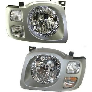 Headlight Set For 2002 2003 2004 Nissan Xterra Se Left And Right With Bulb 2pc