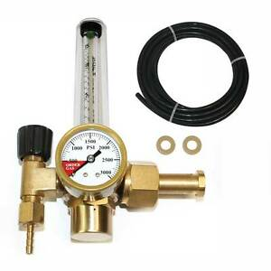 Co2 Single Stage Regulator With Flow Meter Cga 320 Inlet Wrfco2
