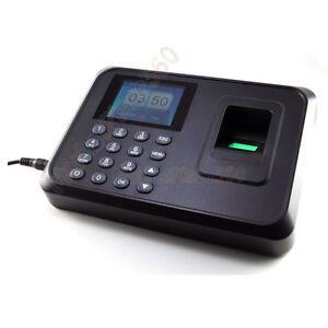 2 4 Inch Lcd Finger Print Attendance Time Clock Recorder Work Usb High Quality