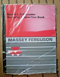 Massey Ferguson Model L 210 Loader Operator Instruction Book