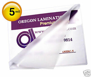 500 Hot 5 Mil Letter Laminating Pouches 9 X 11 1 2 Clear