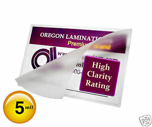 1000 Hot 5 Mil Letter Laminating Pouches 9 X 11 1 2 Clear