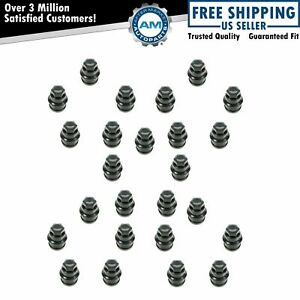 Dorman Wheel Lug Nut Cap Cover Black Kit Set Of 25 For Chevy Gmc Cadillac