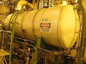 12118 115 Approximately 1000 Gallon Horizontal Stainless Steel Tank