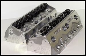Afr Chevy Sbc 406 434 Eliminator Heads 220cc 75cc Fully Built Pair 1066 Hr 75
