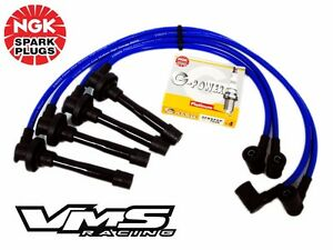 10 2 Mm Blue Spark Plug Wires Ngk Platinum Spark Plugs For 95 98 Nissan Sentra