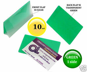 500 Pcs 10 Mil Green 1 Side Business Card Hot Laminating Pouches 2 1 4 X 3 3 4