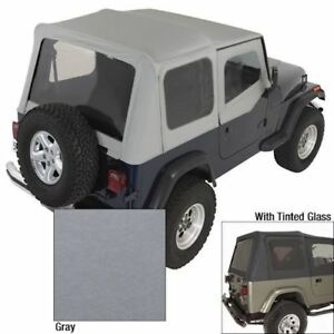 Jeep Wrangler Yj 88 95 Replacement Soft Top Charcoal X 13702 09