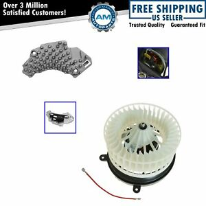 Heater Blower Motor With Fan Cage Resistor For Mercedes Benz Clk320 Clk430