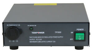 Tekpower Tp350 23 Amp Dc 13 8v Switching Power Supply With Cigarette Plug