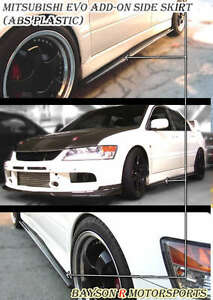 Optional Add On Side Skirts Extensions Fits 01 07 Evo 7 8 9