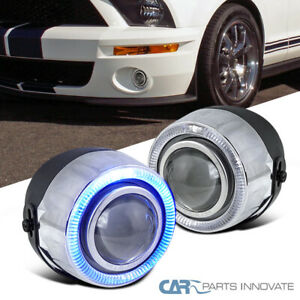 4 7 Color Halo Projector Fog Lights Daytime Running Lamp W Switch
