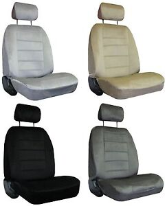 For 2005 2008 Dodge Magnum 2 Quilted Velour Encore Solid Colors Seat Covers