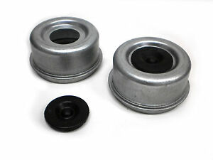 Two 2 71 2 72 Trailer Axle Dust Cap Cup Grease Cover Rv Camper Ez Lube