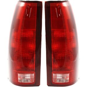 Set Of 2 Tail Light For 88 98 Chevy K1500 Silverado Lh Rh W Bulb