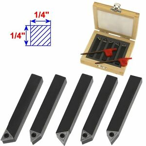 5 1 4 Mini Lathe Indexable Carbide Insert Tool Bit Set