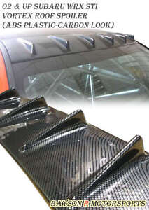 Vg style Rear Roof Fin Spoiler Wing carbon Look Fits 02 07 Impreza