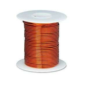 18 Awg Gauge Enameled Copper Magnet Wire 8 Oz 100 Length 0 0428 200c Natural