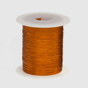 28 Awg Gauge Enameled Copper Magnet Wire 4 Oz 497 Length 0 0142 200c Natural