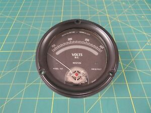 Weston Model 760 Panel Mount Voltmeter 150 To 300 Volts Dc 4 5 dial
