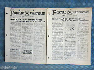 1961 Pontiac Craftsman Service News Feb Mar 1961 2 Issues Catalina Bonneville