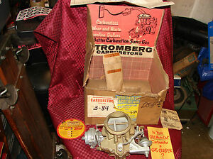 55 56 Plymouth Nos Stromberg 2bbl Carburetor W At Trans