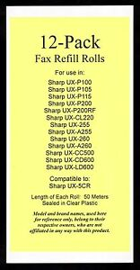 12 pack Of Ux 5cr Fax Refills For Sharp Ux 255 Ux a255 Ux 260 Ux a260 Ux cl220