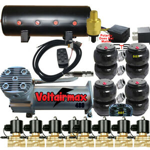 Airmaxxxd 200psi Compressor 1 2 Manifold Fittings Airride 14 Switch 8port