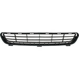 Bumper Grille For 2007 2009 Toyota Camry Center Textured Black Plastic