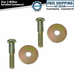 Door Striker Bolts Washer Kits Pair Set For Buick Cadillac Chevy Gmc Truck
